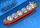 Gas Tanker 02 Vehicle Isometric