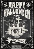 Halloween 01 Vintage Blackboard 2D