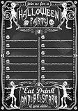 Halloween 02 Vintage Blackboard 2D