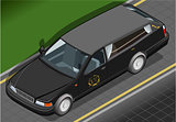 Hearse 01 Vehicle Isometric