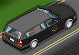 Hearse 02 Vehicle Isometric