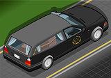 Hearse 02 Vehicle Isometric