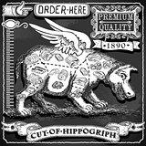 Hippogriph 01 Vintage Blackboard 2D