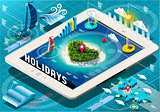 Holidays 02 Infographic Isometric