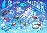 Ice Fishing Infographic Isometric