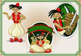 Kebap Smiling Characters Cartoon