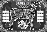 Lamb Cuts 04 Vintage Blackboard 2D