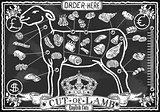 Lamb Cuts 05 Vintage Blackboard 2D