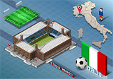 Marassi Stadium Building Isometric