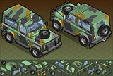 Military Jeep 01 Vehicle Isometric