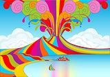 Naples Rainbow Banner 2D