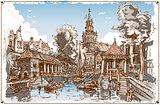 Nederland Landscape 01 Vintage 2D