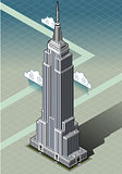 NYC Empire Building Isometric