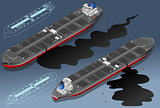 Oil Tanker 01 Vehicle Isometric