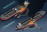 Oil Tanker 02 Vehicle Isometric