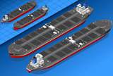 Oil Tanker 04 Vehicle Isometric
