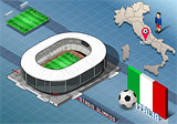 Olimpico Stadium Building Isometric