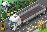 Pick Up Truck 01 Vehicle Isometric