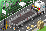 Pick Up Truck 02 Vehicle Isometric