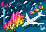 Plane 01 Infographic Isometric