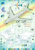 Plane 02 Infographic Isometric