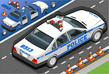 Police 01 Vehicle Isometric