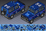 Police Jeep 01 Vehicle Isometric