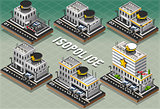 Police Station Building Isometric