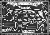 Pork Cut 04 Vintage Blackboard 2D