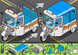 Rickshaw 01 Vehicle Isometric