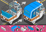 Rickshaw 02 Vehicle Isometric