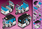 Rickshaw 05 Vehicle Isometric