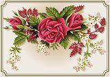 Roses Frame 01 Vintage 2D