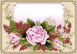 Roses Frame 03 Vintage 2D