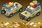 Safari Jeep 01 Vehicle Isometric