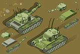 Tank 01 Vehicle Isometric Tank 01 Vehicle Isometric