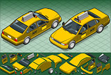 Taxi 02 Vehicle Isometric
