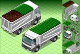 Truck 12 Vehicle Isometric