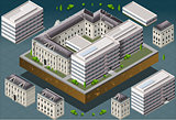 University 02 Building Isometric
