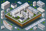 University 03 Building Isometric