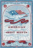 USA Menu 04 Vintage 2D