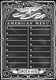 USA Menu 05 Vintage Blackboard 2D