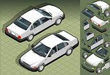 White Car 01 Vehicle Isometric