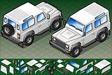 White Jeep 01 Vehicle Isometric