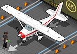 White Plane 01 Vehicle Isometric