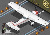 White Plane 02 Vehicle Isometric