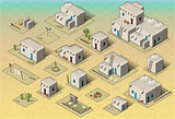 Pueblo 01 Building Isometric
