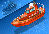 Rescue Boat 02 Vehicle Isometric