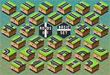 Roads 01 Tiles Isometric