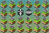 Roads 06 Tiles Isometric